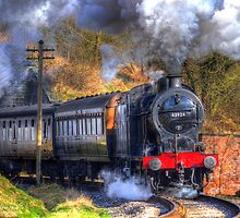 43924 Coming Emerging From Tunnel In Haworth by andyj81