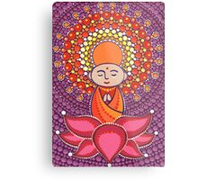 Jizo Meditating upon a Ruby Lotus Metal Print