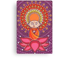 Jizo Meditating upon a Ruby Lotus Canvas Print