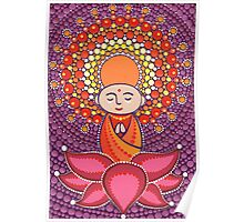Jizo Meditating upon a Ruby Lotus Poster