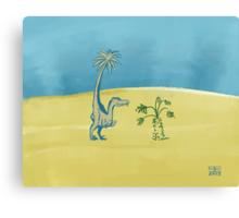 Dromaeosaur Nip Canvas Print