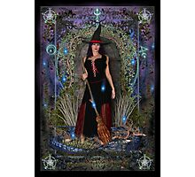 Blue Moon Witch & Dragon Photographic Print