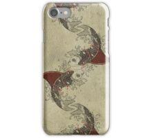 shark fin goldfish school iPhone Case/Skin