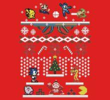 Zelda - Sonic - Mario Christmas Holiday Kids Tee