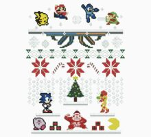 Zelda - Sonic - Mario Christmas Holiday Kids Tee
