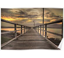 Jetty Sunset Poster