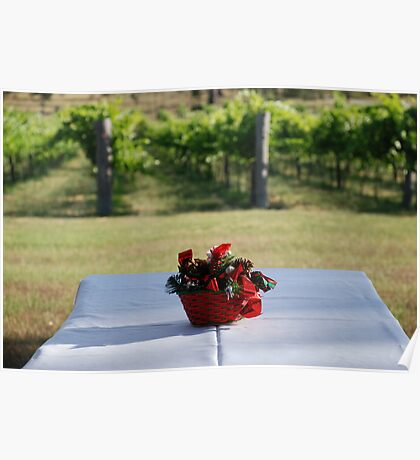Christmas in the vineyard Poster