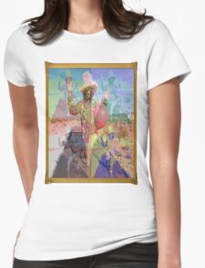 Psychedelic Space Hopper Man Womens Fitted T-Shirt