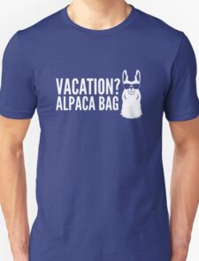 Dog Vacation Alpaca Bag T-Shirt