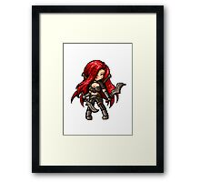Katarina, The Pixel Blade Framed Print