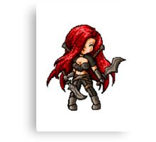 Katarina, The Pixel Blade Canvas Print