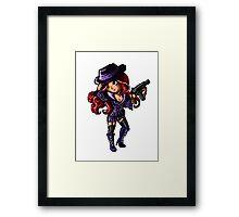 Pixel Mafia Miss Fortune Framed Print