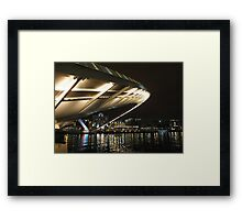 Lights under the bridge Framed Print