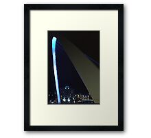 Turquoise lights Framed Print