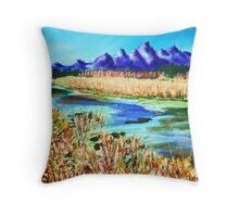 The Grand Tetons, WY. Throw Pillow