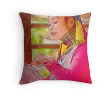 Refugee's Sorrow Bound Body and Soul 14 Throw Pillow