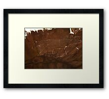A delicate web Framed Print