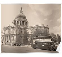 Vintage Routemaster at St Pauls Poster