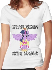 Evil Twilight Sparkle - End of Brony Women's Fitted V-Neck T-Shirt