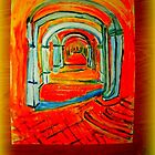 AnOther OReilly ORiginal Painting corridor Humboldt mental hospital  by Timothy C O'Reilly