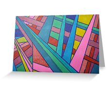 TEN COLORS IN A ROW Greeting Card