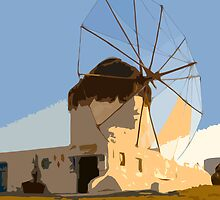 Windmill in Mykonos by geochro