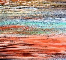 Tangerine Dusk - Oil Pastel by Kathie Nichols