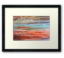 Tangerine Dusk - Oil Pastel Framed Print