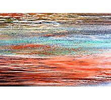 Tangerine Dusk - Oil Pastel Photographic Print
