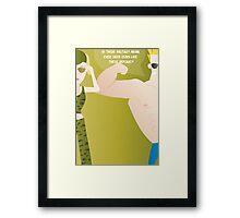 Johnny Bravo - Dating tips Framed Print