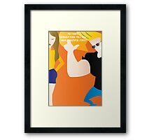 Johnny Bravo - Dating tips Framed Print