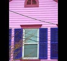 East Broadway Pink House Window - Port Jefferson, New York  by © Sophie W. Smith