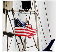 Proudly Torn and Tattered...Our Flag Poster