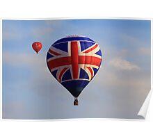 Team GB hot air balloon Poster