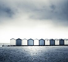 Charmouth Beach Huts by Dorit Fuhg