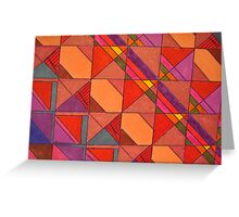 COLORFUL POLYGONS Greeting Card