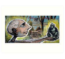 Grave New World (brainstemming.com) Art Print