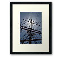 Tall Ship Rigging Framed Print