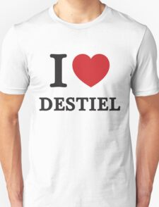 I Heart Destiel (Red Heart) T-Shirt