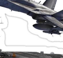 F/A-18 Hornaet and the USS Harry S. Truman Sticker
