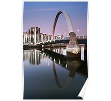Glasgow Clyde Arc Bridge at Sunset Poster