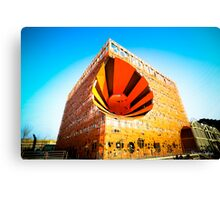The Orange Cube Canvas Print