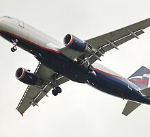 airliner A320 in flight by mrivserg