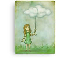 Cloud on a string Canvas Print