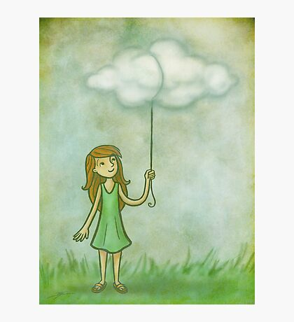 Cloud on a string Photographic Print