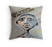 Never Say Die (brainstemming.com) Throw Pillow