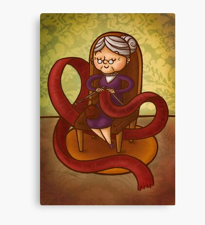 Knitting Canvas Print