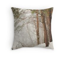White Silence Throw Pillow