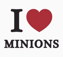 I Love Minions ( Red Heart ) by HarmonyByDesign
