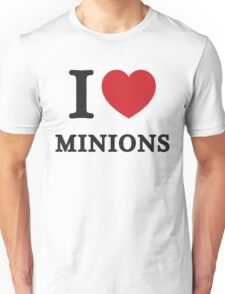 I Love Minions ( Red Heart ) Unisex T-Shirt